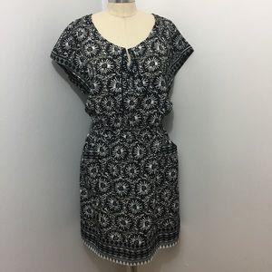 Gap Cute Summer Border Print Dress with Pockets